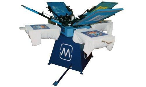 Mmc macchina serigrafica manuale a carosello screen for Giostre usate