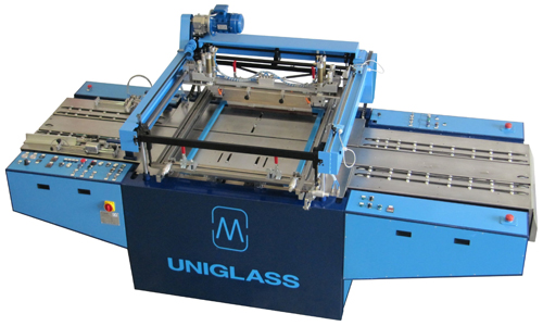 Screen printing equipment for glass sheets